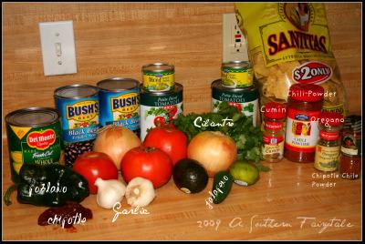 Tortilla Soup Ingredients