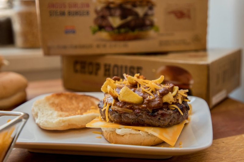 game day chili cheese burgers with chophouse steak burgers