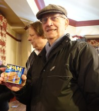 we awarded George the tin of spam!