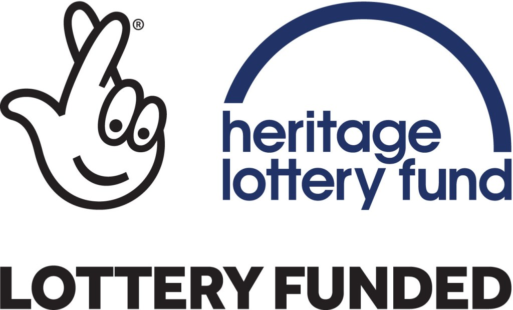 Logo for Heritage Lottery fund.
