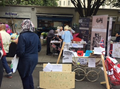 History Stall with banners