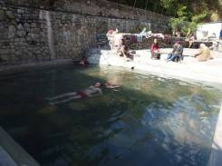 Many local people will walk miles to have a hot bath now and again in these springs.