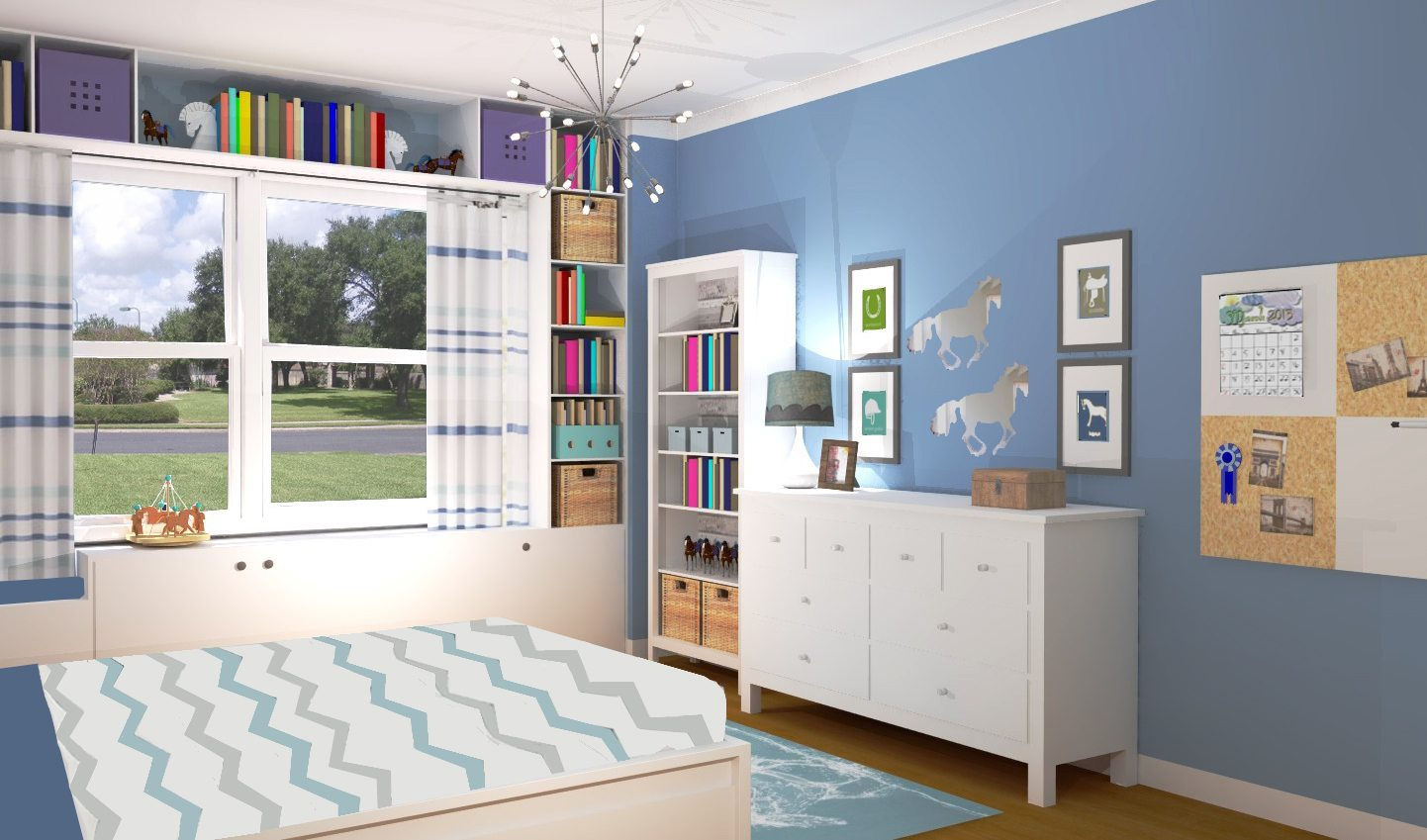 girls bedroom decor - horse bedroom for little girl - a space to