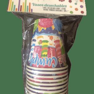 """Vasos desechables """"Feliz Cumpleaños"""" 10 Unidades - A Spanish Bite"""