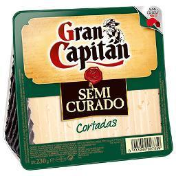 Queso GRAN CAPITÁN Semicurado Cuña Cortada 230gr - A Spanish Bite