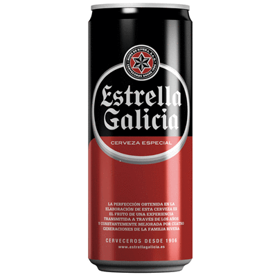 Beer ESTRELLA GALICIA- Can 33 cl - A Spanish Bite