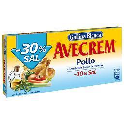 Caldo Pollo Avecrem - 30% Sal GALLINA BLANCA – 10 pastillas - A Spanish Bite