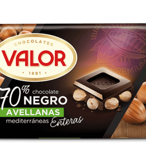 Chocolate negro 70% con Avellanas VALOR - A Spanish Bite