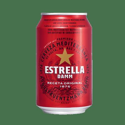 Cerveza Estrella DAMM Lata  33 cl - A Spanish Bite