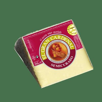 Queso semicurado GRAN CARDENAL cuña  250 gr aprox - A Spanish Bite