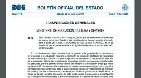 BECAS DEL MINISTERIO DE EDUCACIÓN, CULTURA Y DEPORTE.