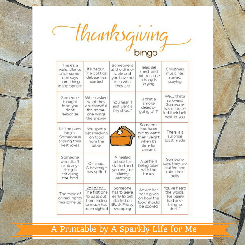 Thanksgiving Bingo Game Printable PDF - Pumpkin Pie - Instant Download