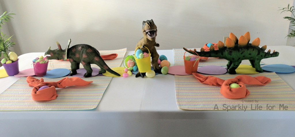 Dinosaur Easter Egg Hunt Tables Decor