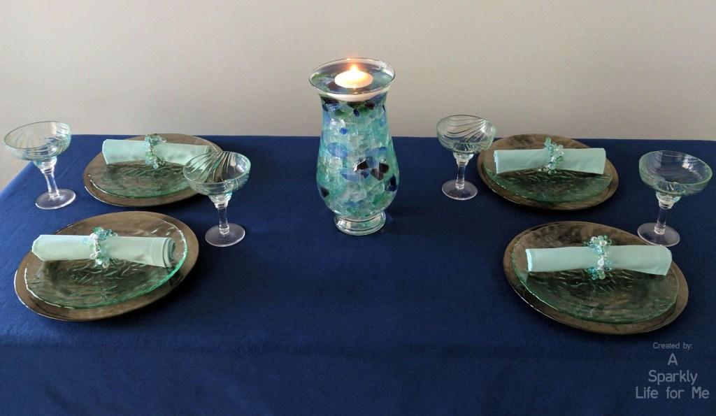 Sea Glass Hues Summer Tablescape Creating A Modern Coastal Table Decor