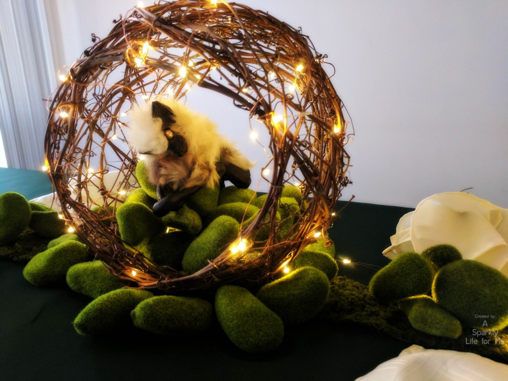 DIY Midsummers Night Dream Magical Creature Centerpiece with Fairy Lights – by A Sparkly Life for Me