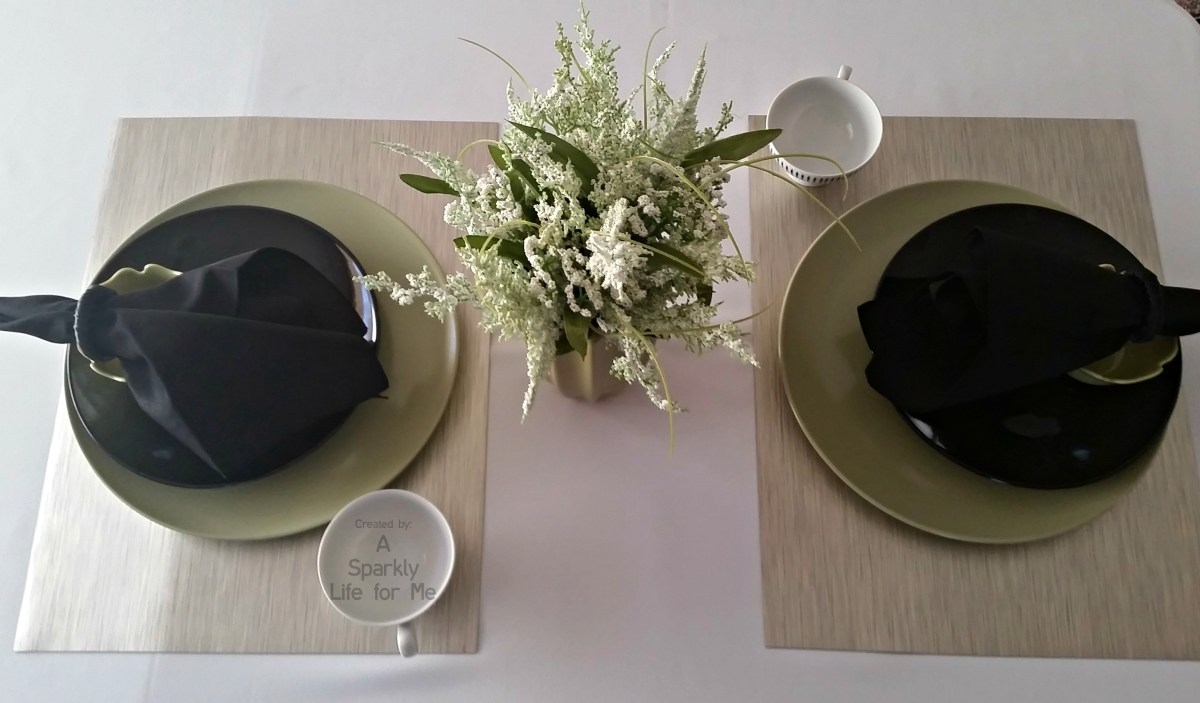 Modern Greenery Simple Table Setting Decor Ideas by A Sparkly Life for Me
