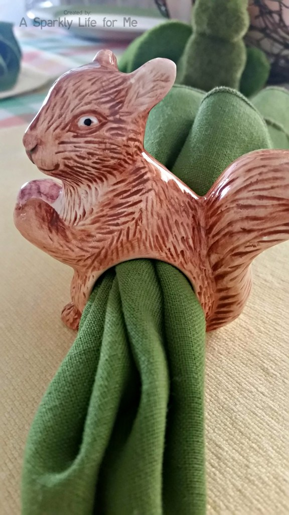 Crazy Squirrel Napkin Ring – by A Sparkly Life for Me