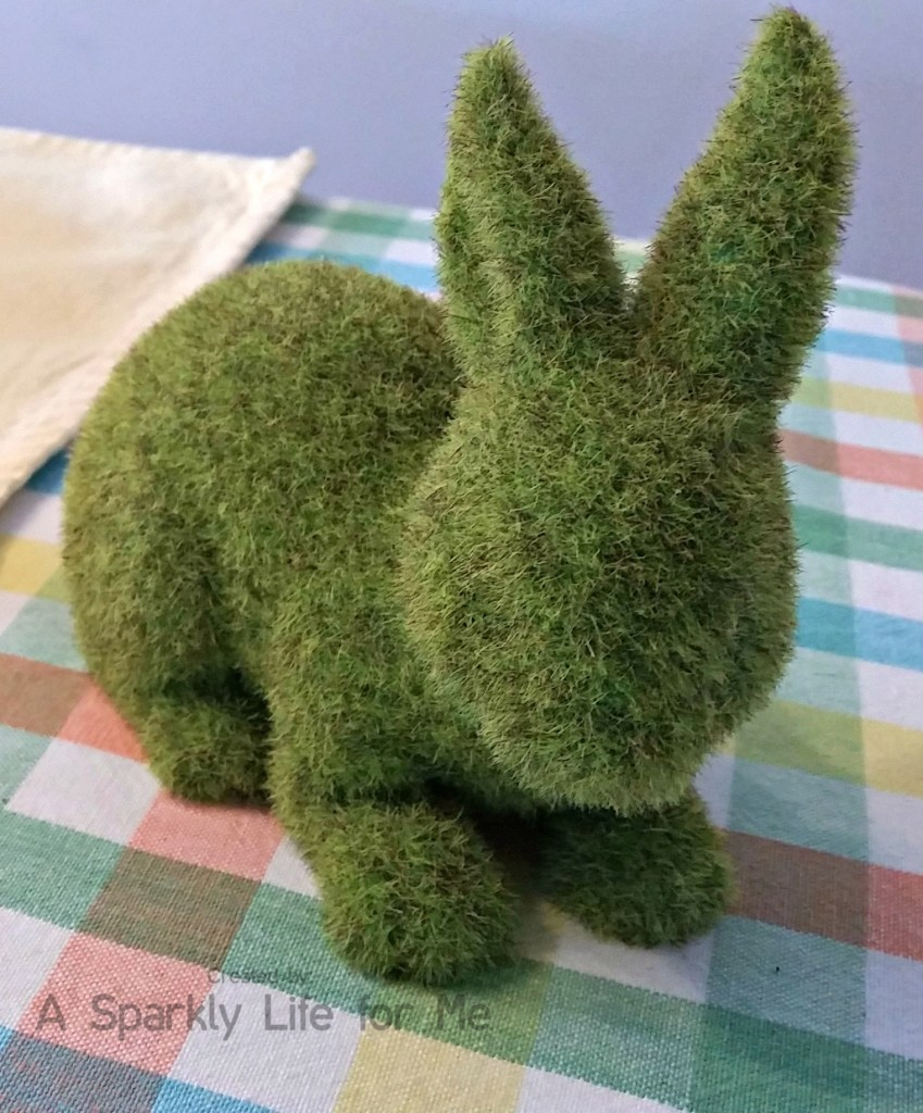 Spring Moss Covered Bunny – by A Sparkly Life for Me