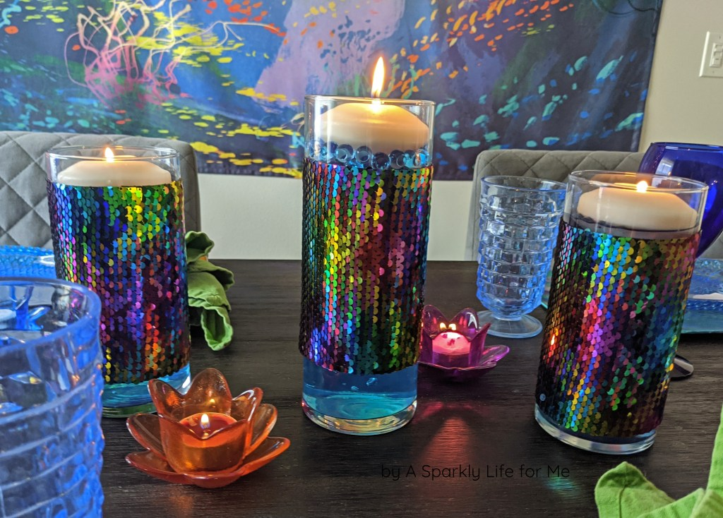 Easy REMOVABLE Sequin Cylinder Covers