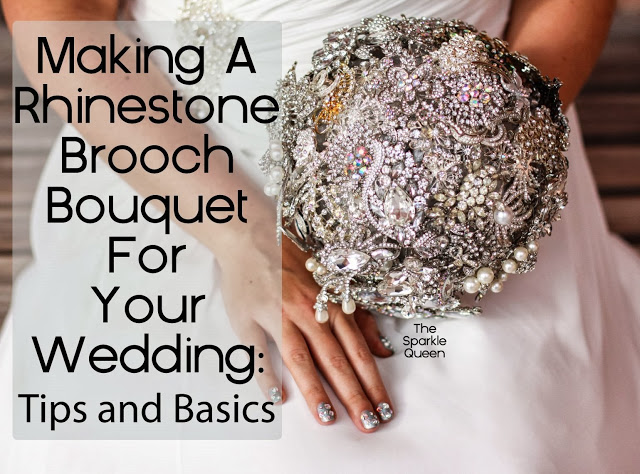 diy rhinestone brooch wedding bouquet tutorial