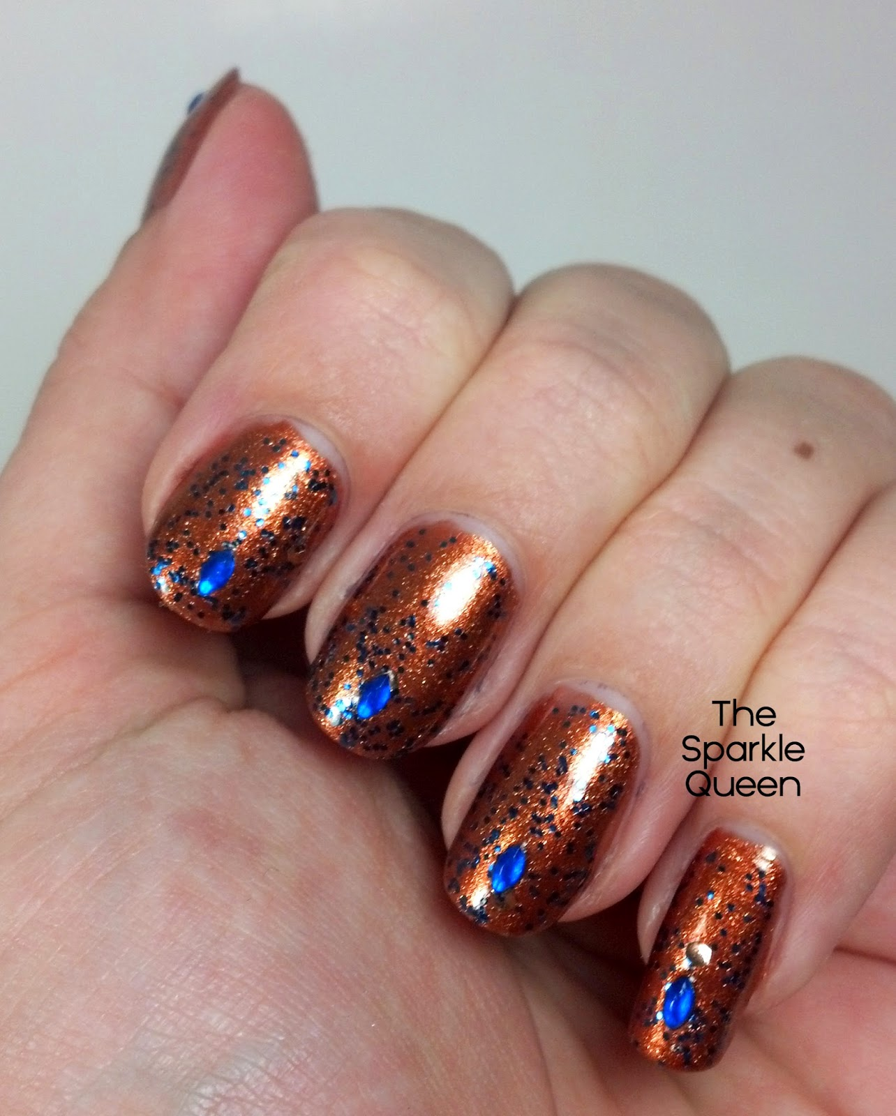 Bronze Glitter Nails for Fall - A Sparkly Life for Me