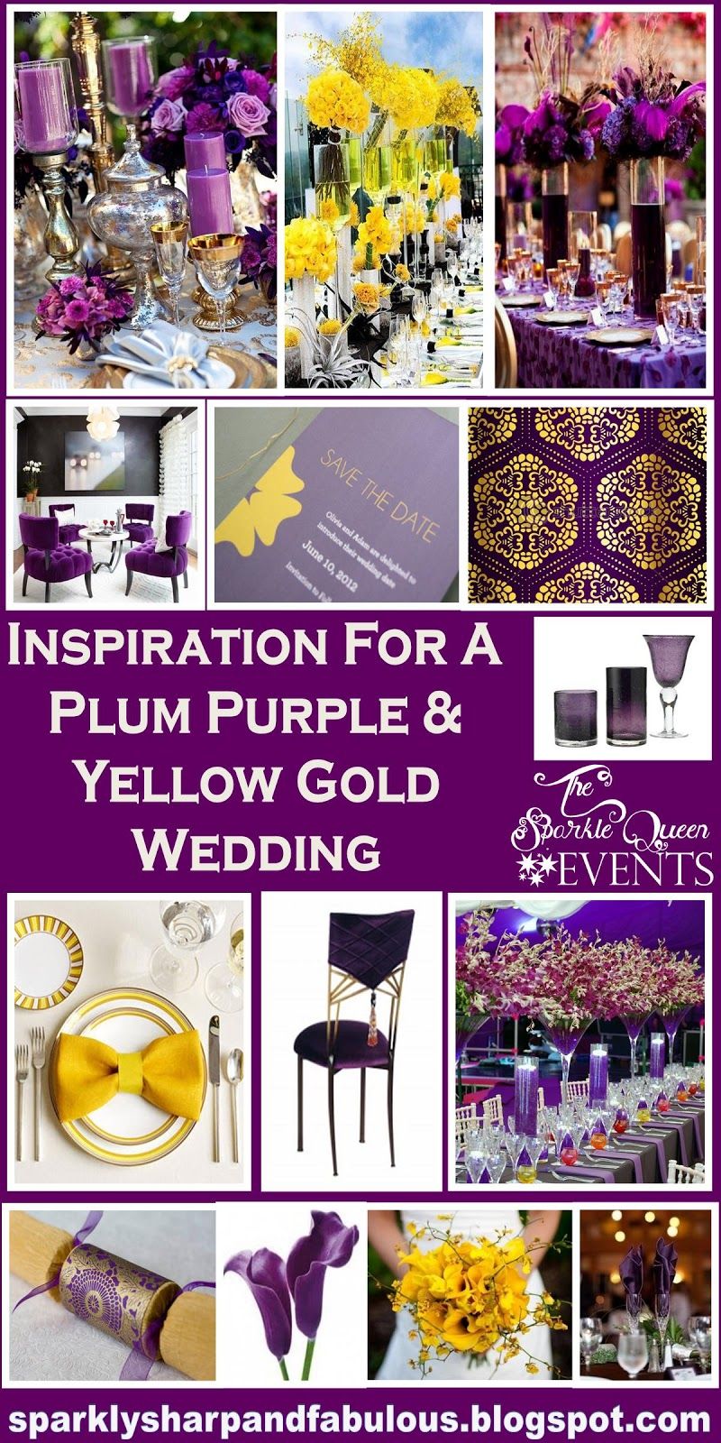 Wedding Extravaganza | Inspiration For A Plum Purple And Yellow Gold Wedding Extravaganza