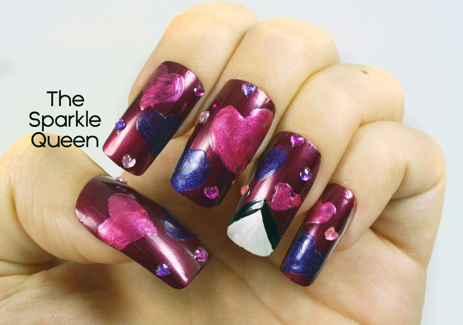 Sending You Some Love {Valentine\'s Day Nail Art} - A Sparkly Life for Me
