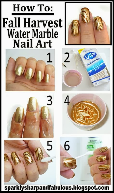 How to fall harvest water marble nail art a sparkly life for me or tried water marble nail art before i dont want you to be too scared to try it it looks far more complicated then it actually prinsesfo Gallery