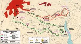 Mapa de los Senderos de Aspe