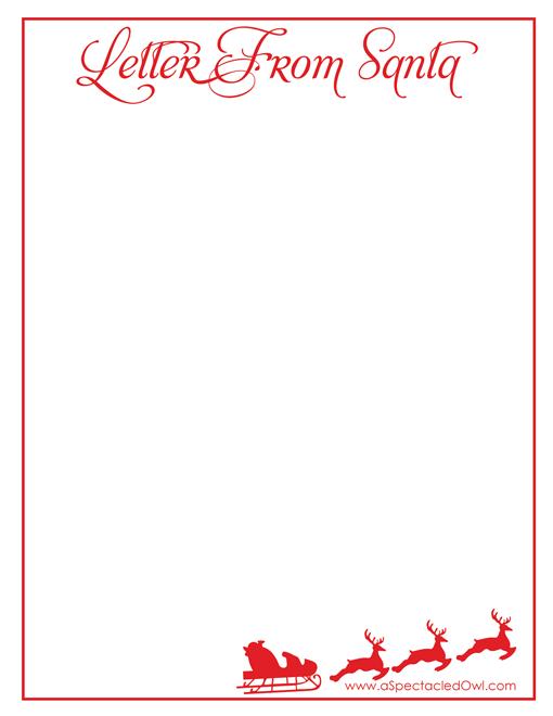 letter from santa christmas printable - Christmas Letter From Santa
