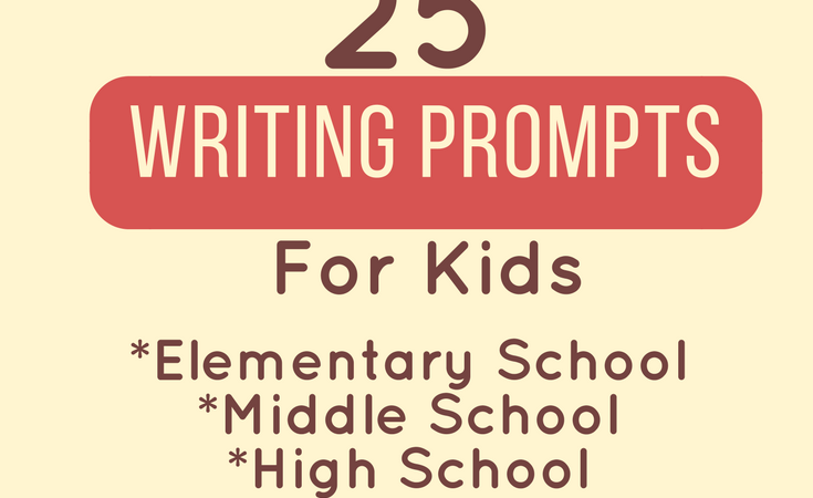 25 Writing Prompts for Kids - Writing prompts are a really great way to get your kids creative juices flowing but sometimes they can be a difficult to come up with! I have come up with 25 writing prompts that are broken up by categories of age!