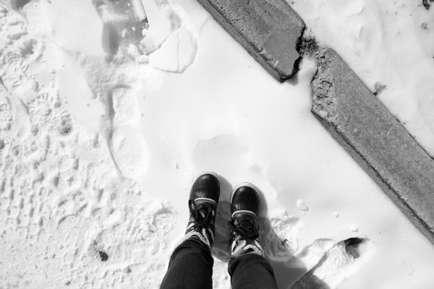 reunited with the snow boots i did not have at work