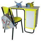bureau et chaise d'écolier vintage