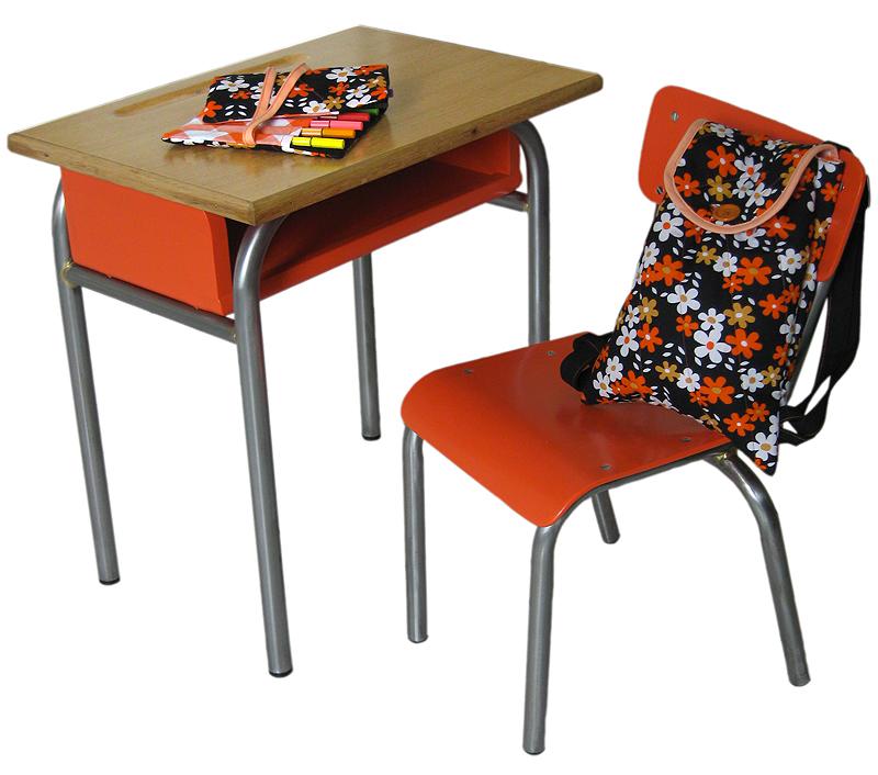 table et chaise d'enfant année 50