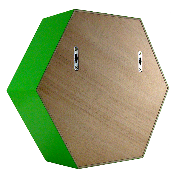 étagère hexagonale verte