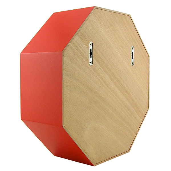 étagère octogonale rouge