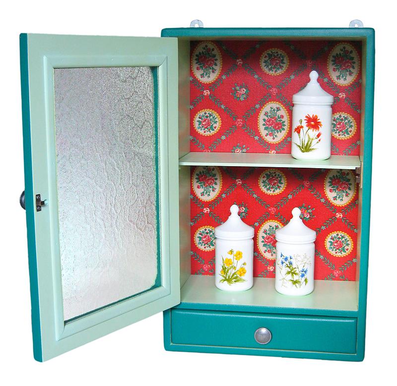 armoire de toilette rétro vintage