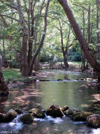 Agios Nikolaos park in Naousa, Macedonia, Greece