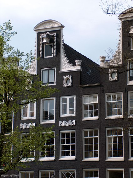 buildings by the canal in Amsterdam