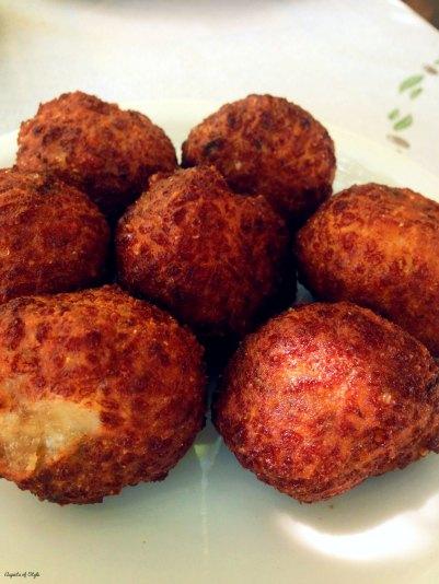 Fried cheese balls at Galini Tavern, Plakias Crete