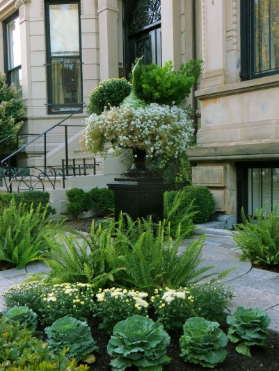 Floral decoration on Commonwealth Avenue, Back Bay Boston