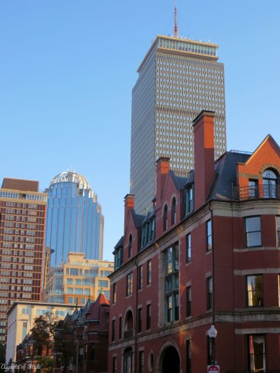 the Prudential Center, Back Bay Boston