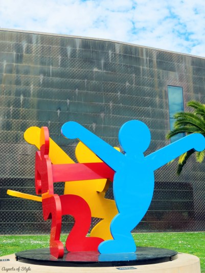 Keith Haring sculpture outside deYoung museum, San Francisco