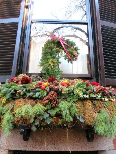 Christmas decorations on Beacon Hill, Boston