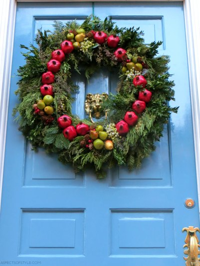 Christmas wreath in Beacon Hill, Boston