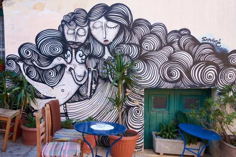 Sonke street artist Athens