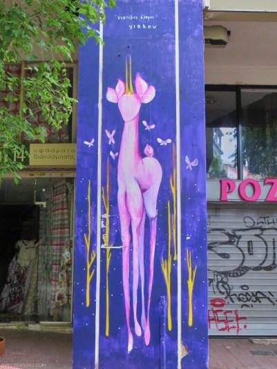 Yiakou street artist in Athens
