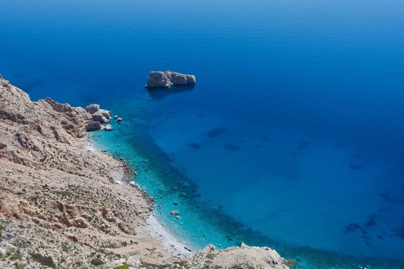 view from Chozoviotissa monastery, Amorgos Greece