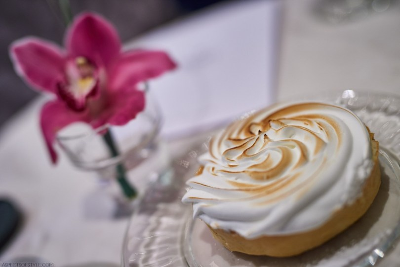 Lemon meringue dessert at Fresh pastry store, Athens