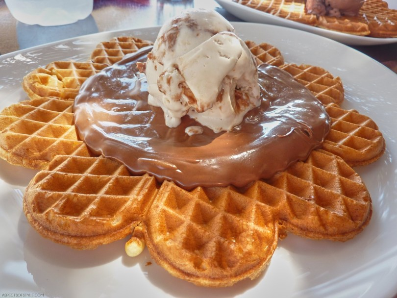 Waffle at Waffle House, Cyclades, Greece
